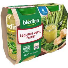 Blédina pot légumes verts poulet 2x200g dès 6 mois