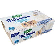 Blédina Les brassés petit pot dessert lacté nature dès 6 mois 6x95g