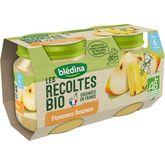 Blédina bio pommes ananas 2x130g dès 6mois