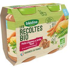 Blédina Petit pot légumes du jardin et boeuf bio dès 6 mois 2x200g