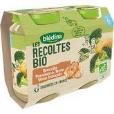 Blédina Blédina Petit pot brocolis pommes de terre et veau bio dès 6 mois 2x200g