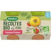 Blédina bio pommes fraises 2x130g dès 6mois