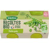 Blédina Blédina Petit pot petits pois bio dès 4 mois 2x130g