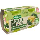 Blédina récoltes bio brocolis pomme de terre 2x130g dès 4m