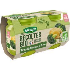 Blédina Peitt pot brocolis pommes de terre bio dès 4 mois 2x130g