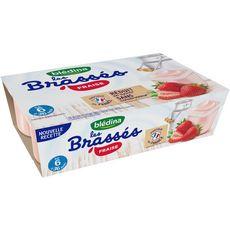 Blédina Les brassés petit pot dessert lacté à la fraise dès 6 mois 6x95g