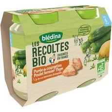 Blédina Petit pot courgettes poulet thym bio dès 6 mois 2x200g