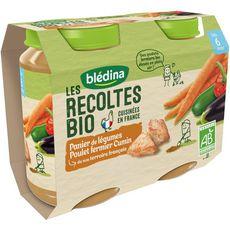 Blédina Petit pot légumes poulet et cumin bio dès 6 mois 2x200g