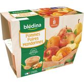 Blédina coupelle de pomme poire mandarine 4x100g dès 8 mois