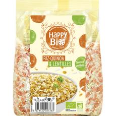 HAPPY BIO Riz quinoa lentilles 500g