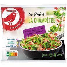 AUCHAN Poêlée de légumes champêtre 5 portions 750g