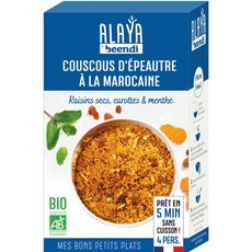Alaya Couscous d'épeautre bio à la marocaine, raisins secs carottes 250g