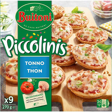 BUITONI Piccolinis mini pizza au thon 9 pièces 270g