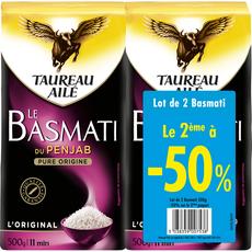 TAUREAU AILE Taureau Ailé riz basmati 2x500g  dont 50% sur le 2ème