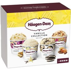 HAAGEN DAZS Mini pôts vanilla collection 4 mini pots 320g