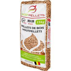 BESTPELLETS BestPellets Pellets granulés de bois 100% résineux din+ 6mm 15kg 15kg