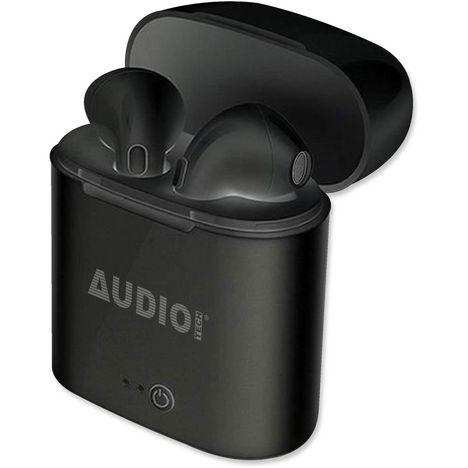 AUDIO TECH Écouteurs sans fil Bluetooth avec boîtier de charge - Noir