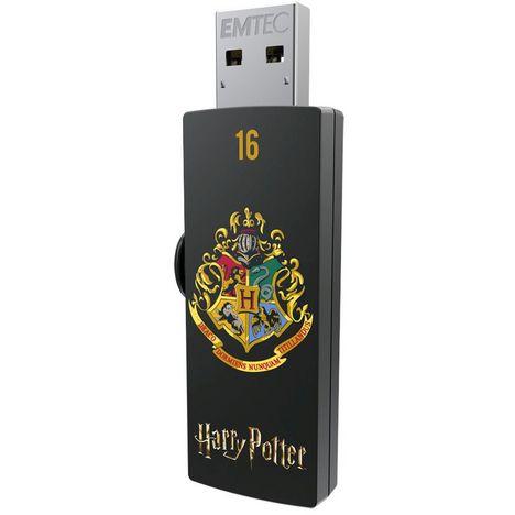 EMTEC Clé USB 2.0 16 Go M730 Harry Potter Poudlard Noir