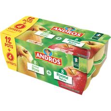 ANDROS Spécialité pomme et pomme poire sans conservateurs 16x100g