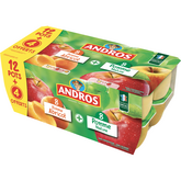 Andros ANDROS Spécialité Pomme Nature, et Pomme Abricot 16x100g