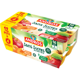 Andros compote de pomme nature abricot 12x100g +4offerts