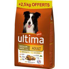 ULTIMA Croquettes pour chiens adultes médium maxi +10kg 10kg
