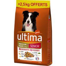 ULTIMA Senior croquettes au poulet légumes riz pour chien 7,5kg