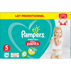 PAMPERS Baby-dry pants couches-culottes taille 5 (12-17kg) 84 couches
