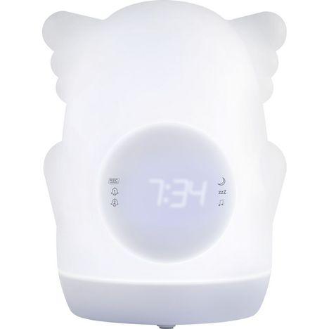 BIGBEN Réveil lumineux éducatif portable AKSO - Blanc