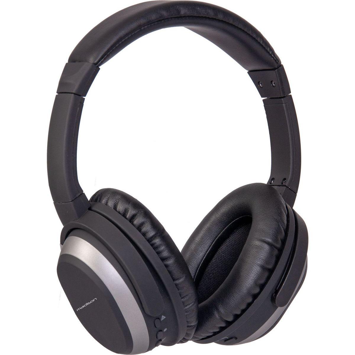 MAD-HNB-150 - Noir - Casque audio bluetooth et filaire