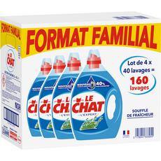 Le Chat Lessive liquide fraîcheur format familial 160 lavages 4x2l