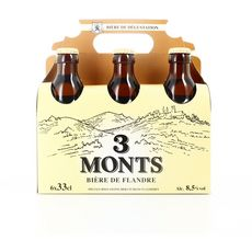 3 monts Bière blonde des Flandres 8,5% bouteilles 6x33cl