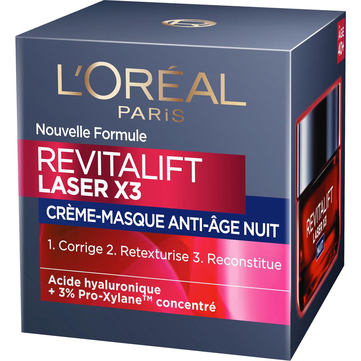 L'Oréal soin revitalift laser cica nuit 3x50ml