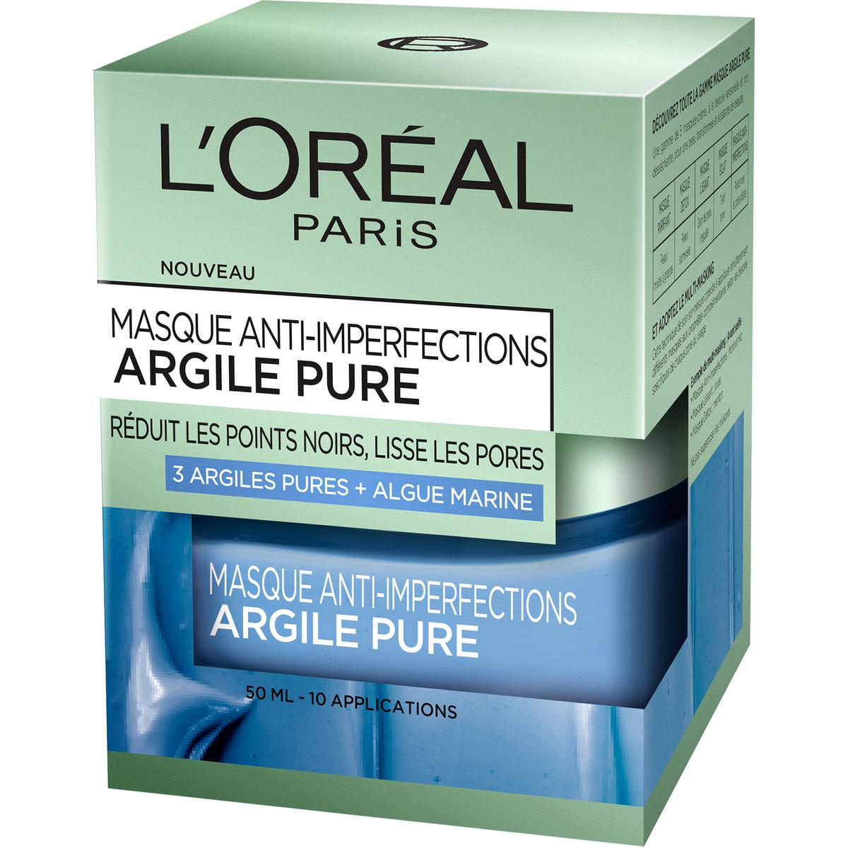 L'Oréal dermo expert masque bleu à l'argile 50ml