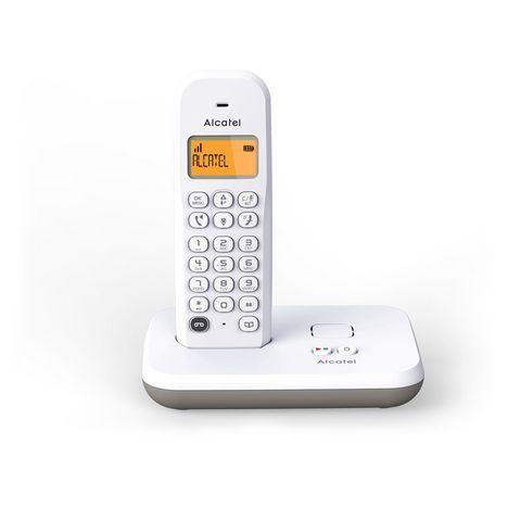 ALCATEL Téléphone fixe - E195 VOICE - Blanc - Répondeur