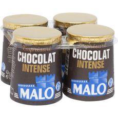 MALO Yaourt emprésuré au chocolat intense 4x125g