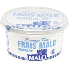 St Malo fromage frais nature 20% de matière grasse 500g