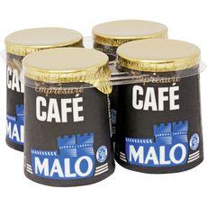 SAINT MALO Saint Malo Yaourt emprésuré au café pot en carton 4x125g 4x125g