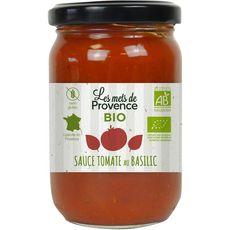 LES METS DE PROVENCE Sauce tomate bio au basilic sans gluten, en bocal 90g