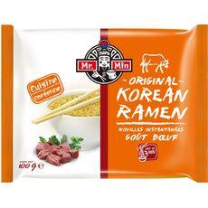 MR MIN Mr Min Nouilles ramen coréennes instantanées au bœuf 100g 100g