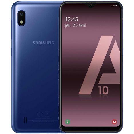SAMSUNG Smartphone - GALAXY A10 - 32 Go - 6.2 pouces - Bleu - 4G - Double port nano SIM