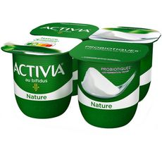 ACTIVIA Yaourt bifidus nature 4x125g