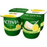 Danone ACTIVIA Yaourt au bifidus citron 4x125g