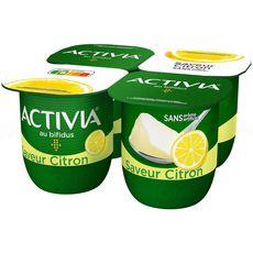 ACTIVIA Yaourt bifidus saveur citron 4x125g