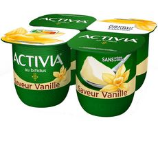 ACTIVIA Activia Yaourt bifidus vanille  4x125g 4x125g