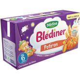 Blédina Blédina Blédîner brique céréales lactées au potiron dès 6 mois 2x250ml