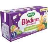 Blédina Blédina Blédîner brique céréales lactées légumes variés dès 12 mois 2x250ml
