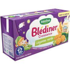 Blédina BLEDINA Blédîner brique céréales lactées légumes variés dès 12 mois