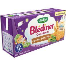Blédina BLEDINA Blédîner brique céréales lactées carotte petit pois 12 mois