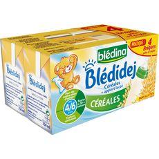 BLEDINA Blédidej céréales lactées dès 4 mois 4x250ml